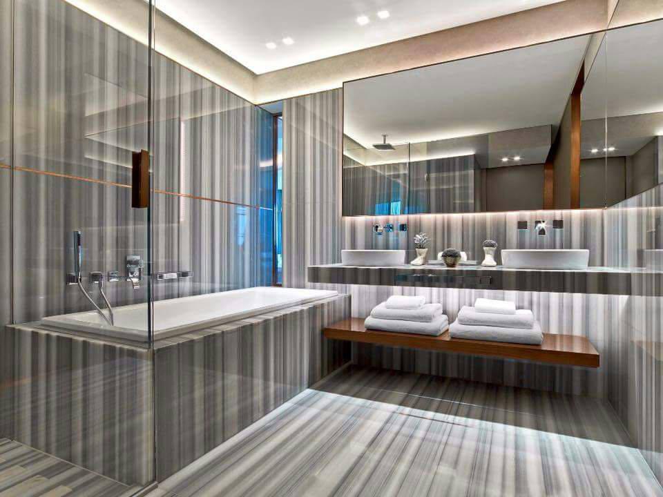 Banyo Lavabo Mermer Kaplama